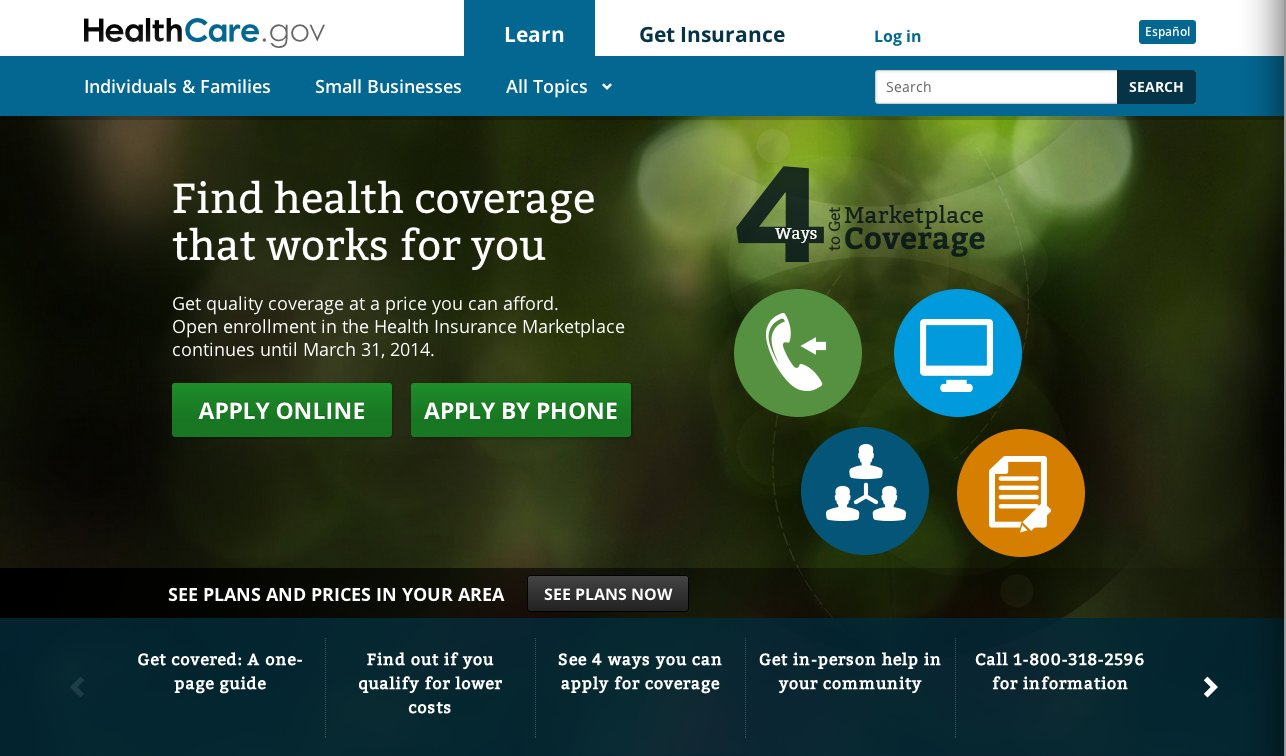 obamcare website