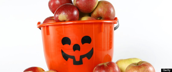 apples trick or treat halloween
