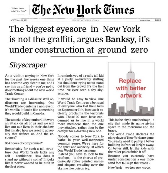banksy new york times