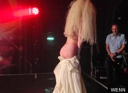 PICS: Lady Gaga Flashes Her Lady Ga-Garden At Secret Gig