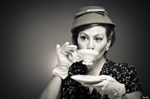 person drinking tea