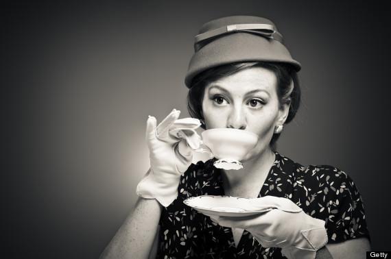 Lady Drinking Tea Book