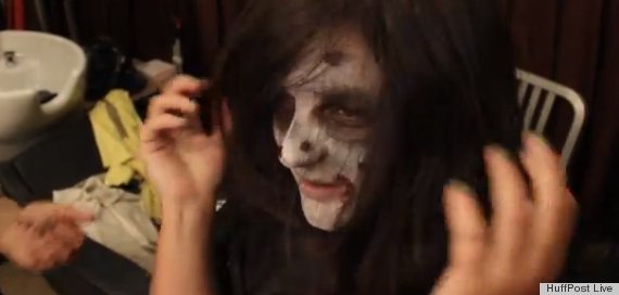 zombie makeup hair