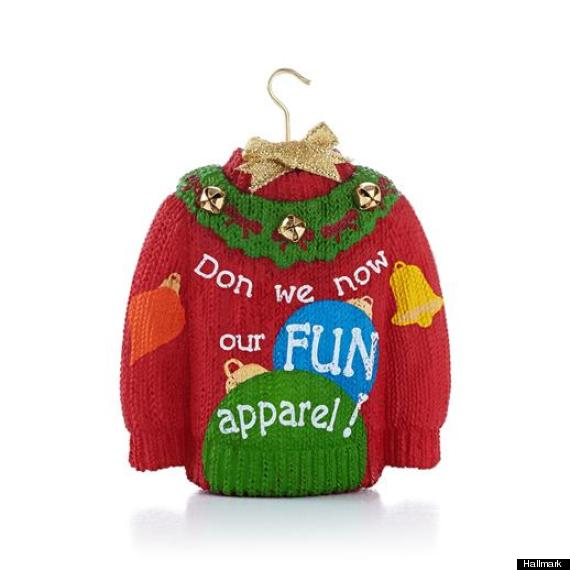 hallmark holiday sweater ornament