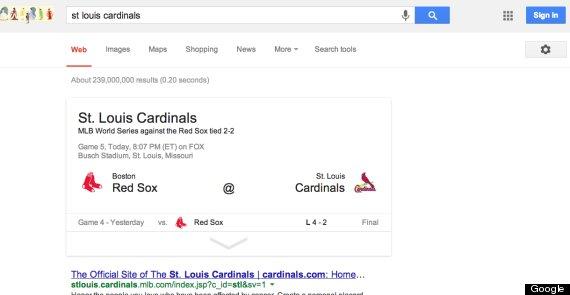 google cardinals