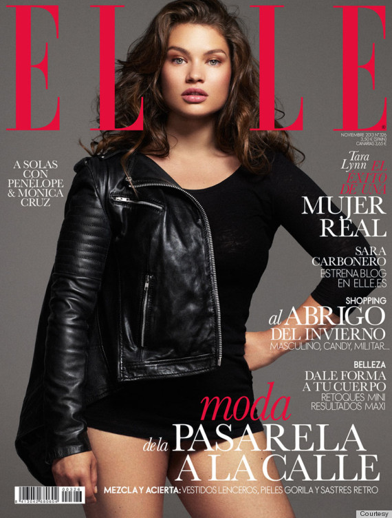 tara lynn 39 s elle spain cover is awesomely edgy photo video huffpost. Black Bedroom Furniture Sets. Home Design Ideas