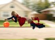 Dad Sends Kids Flying In Magical Halloween Photo Series