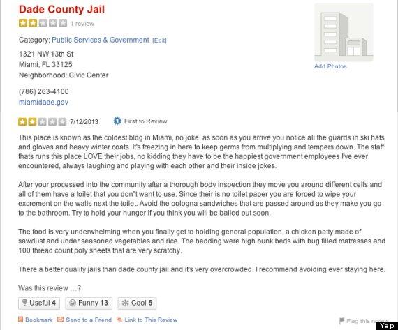 yelp review miami jail