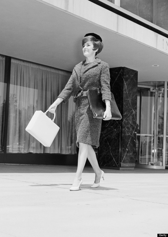 well dressed shoppers in the 1960s