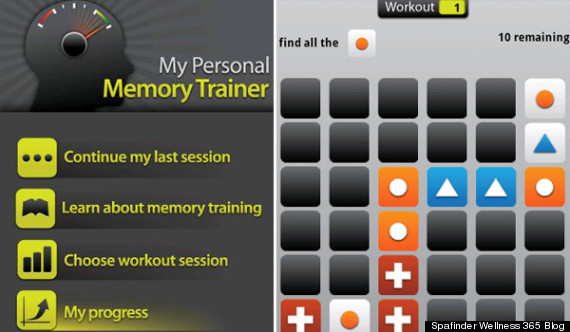 my personal memory trainer app