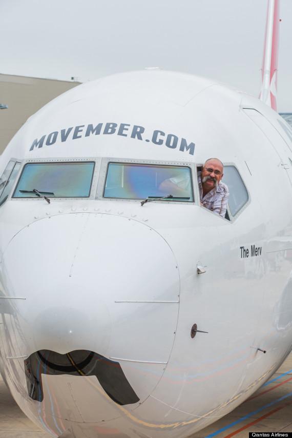 qantas movember plane
