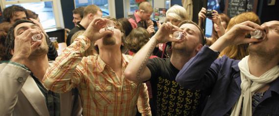 MEN DRINKING PUB