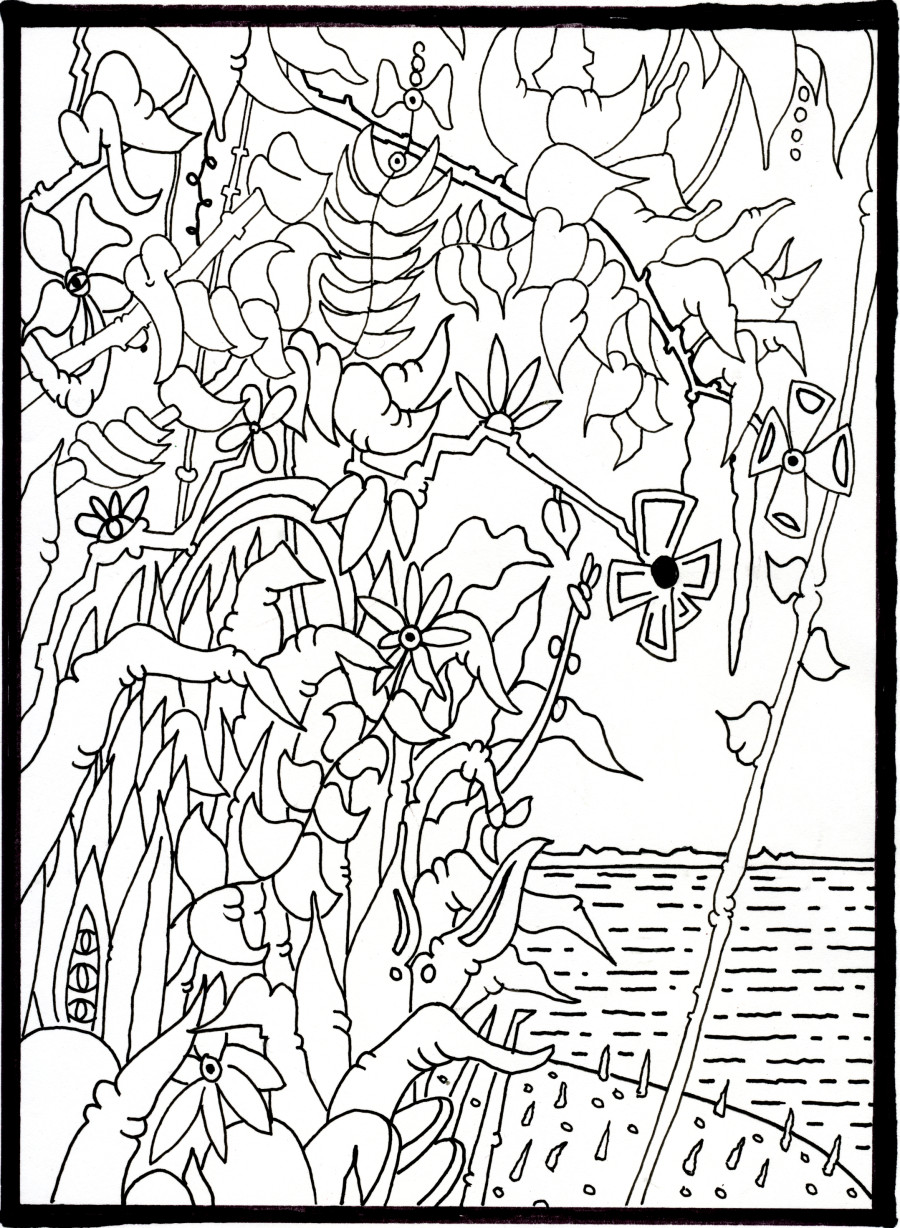 between the lines a coloring book designed entirely by artists erik - Outside The Lines Coloring Book