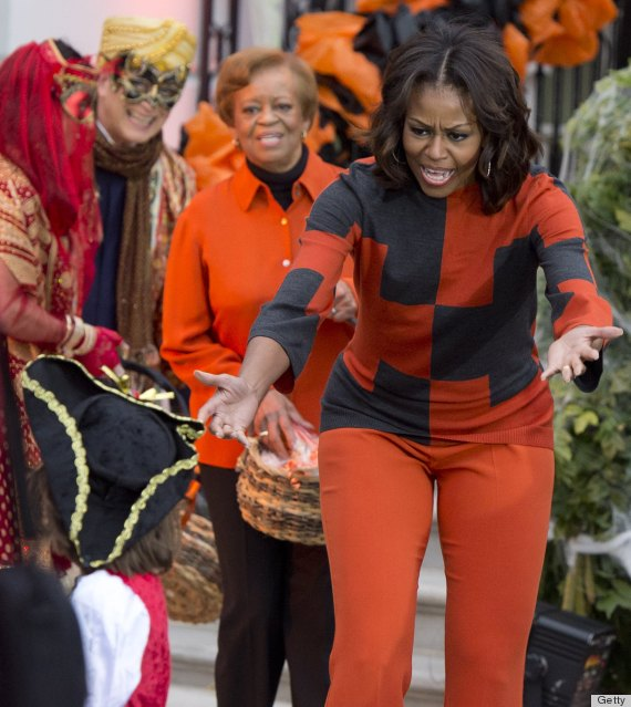 Michelle Obama S Halloween Outfit Is Theme Dressing Gone