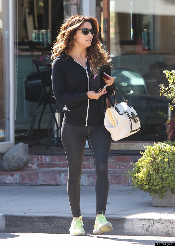 Eva Longoria Rocks Tights In LA