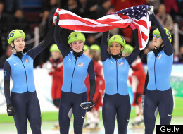 Team Usa Wins Bronze Relay Speed Skating