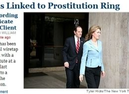 Eliot Spitzer Prostitution New York Times