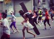Marathon Jesus In New York City Runs Barefoot For Our Sins And For Boston Victims (PHOTOS)