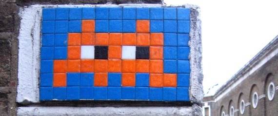 SPACE INVADER STREET ART