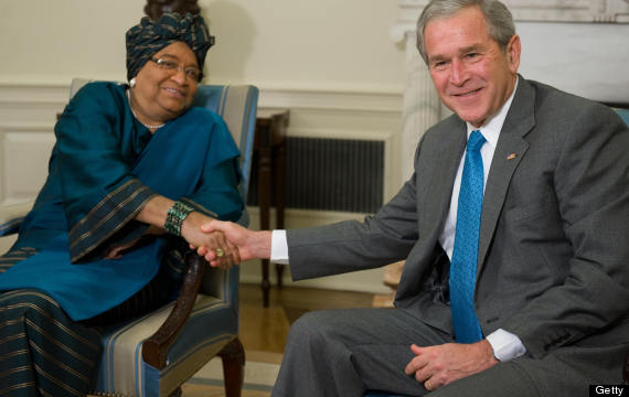 ellen johnson sirleaf bush