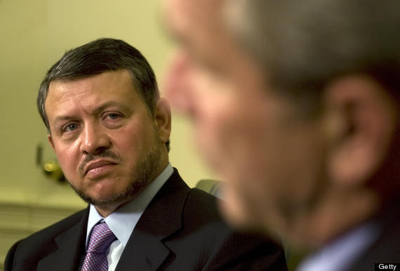 bush king abdullah ii