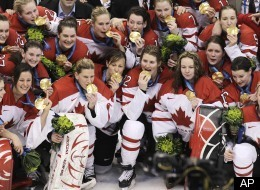 Canada Women Hockey Gold Team Usa