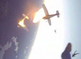 skydiving planes collide