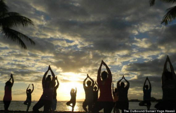 sunset yoga hawaii
