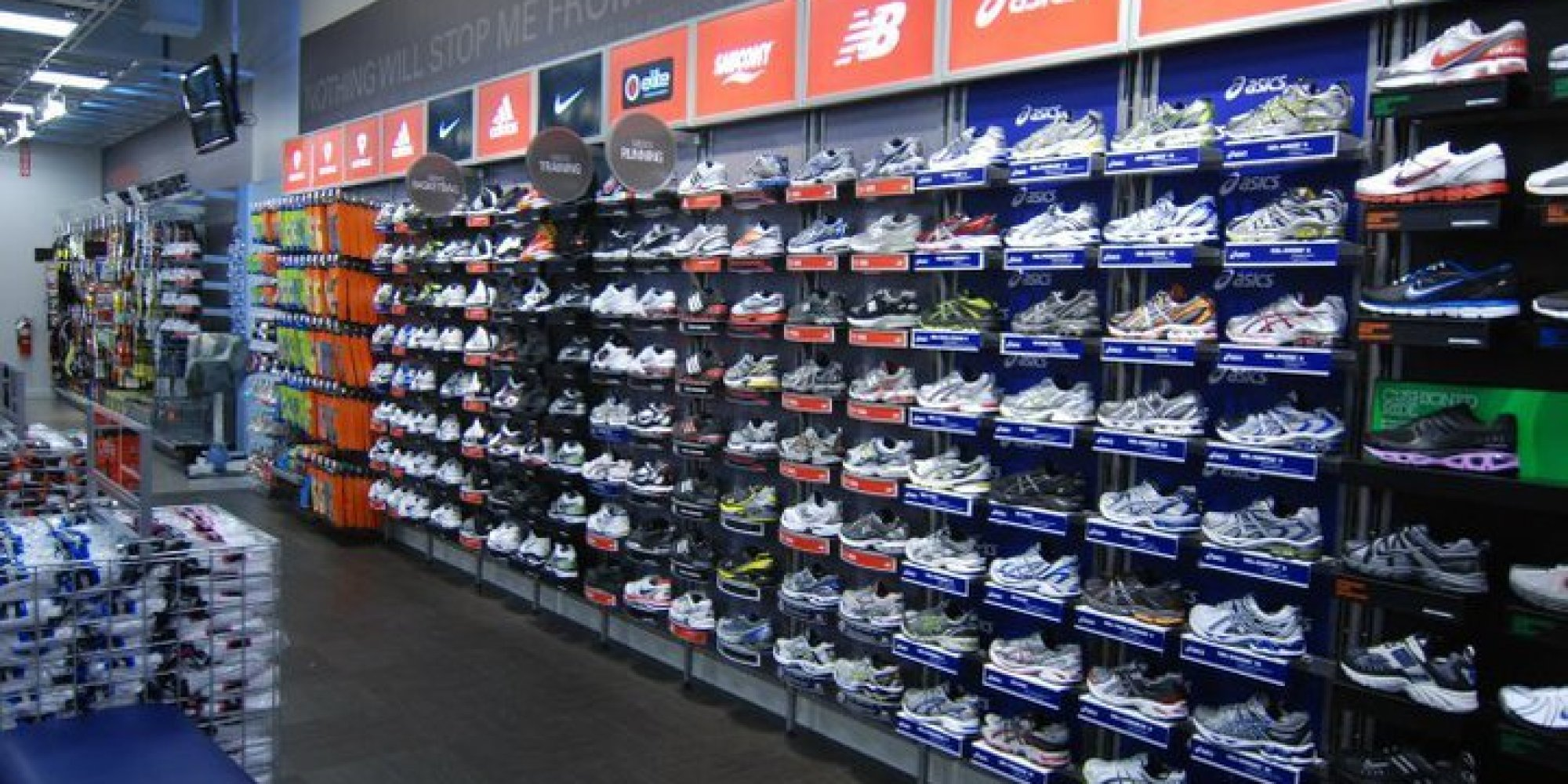Inside sports authority store