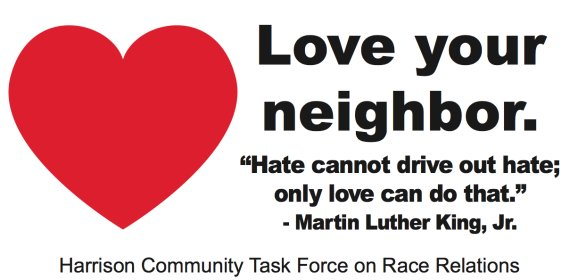 harrison arkansas love your neighbor billboard