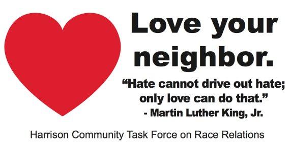 harrison arkansas love your neighbor billboard