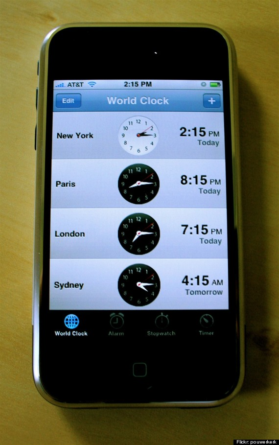 cell phone time zones