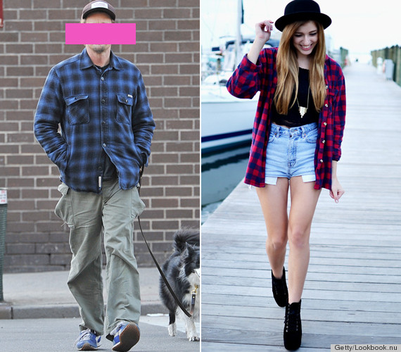 These so called men 39 s clothes look way better on women for How to wear men s flannel shirts