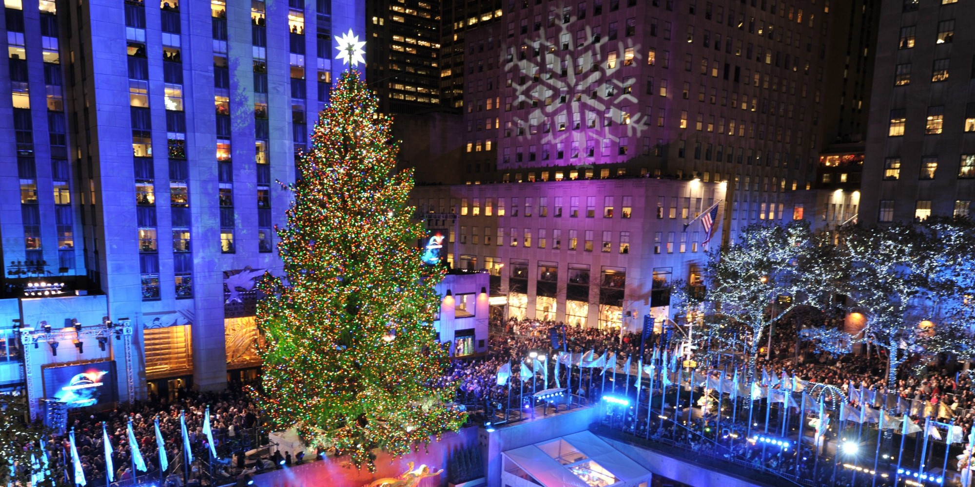 Ten best christmas trees 2013 huffpost uk for New york city decor