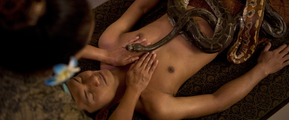 INDONESIAN SNAKE MASSAGE