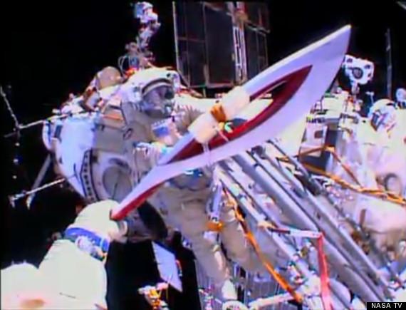 olympic torch spacewalk
