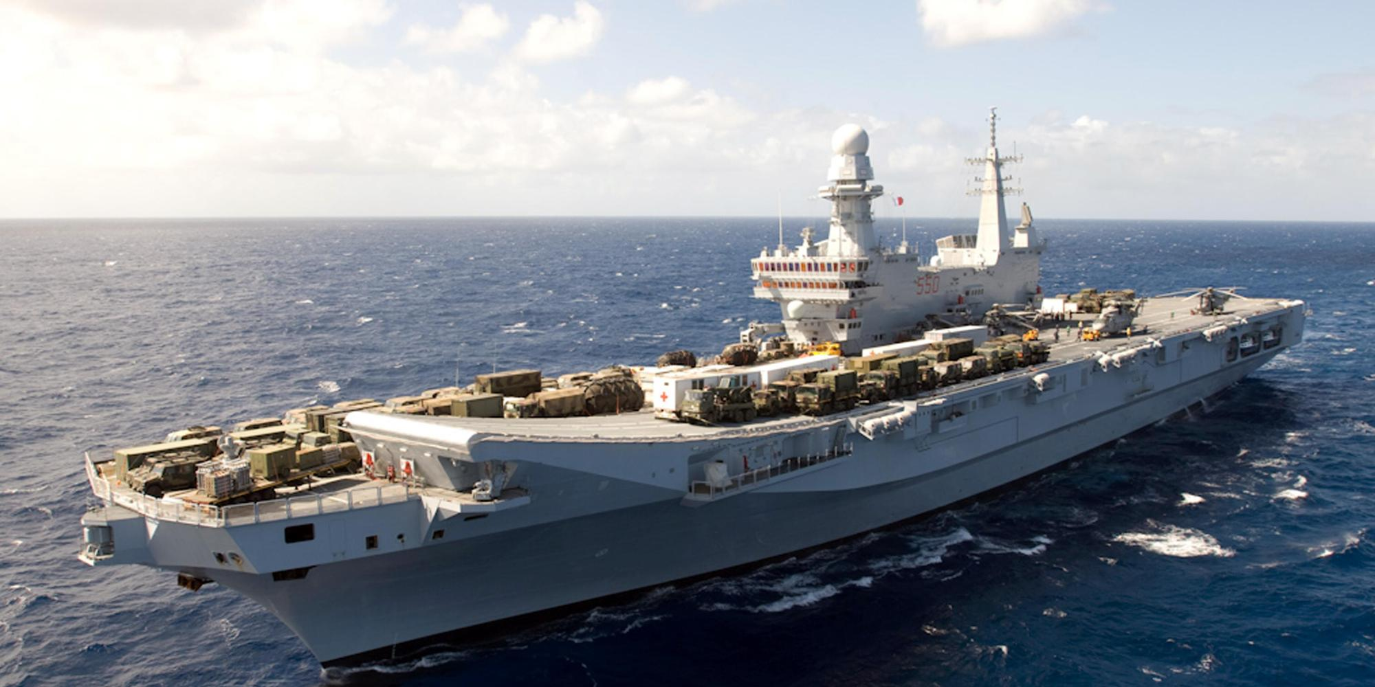 Sel denuncia la marina militare porta le eccellenze - Nave portaerei ...