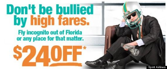 spirit airlines miami dolphins