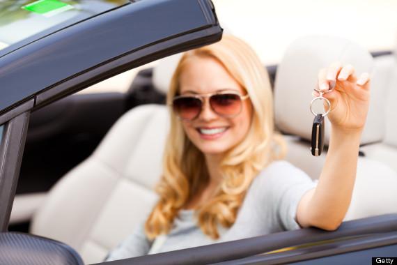 rich woman car keys