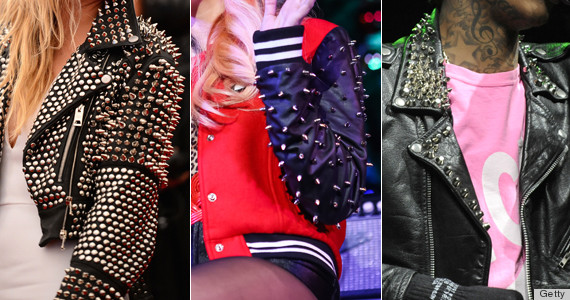 spiked leather