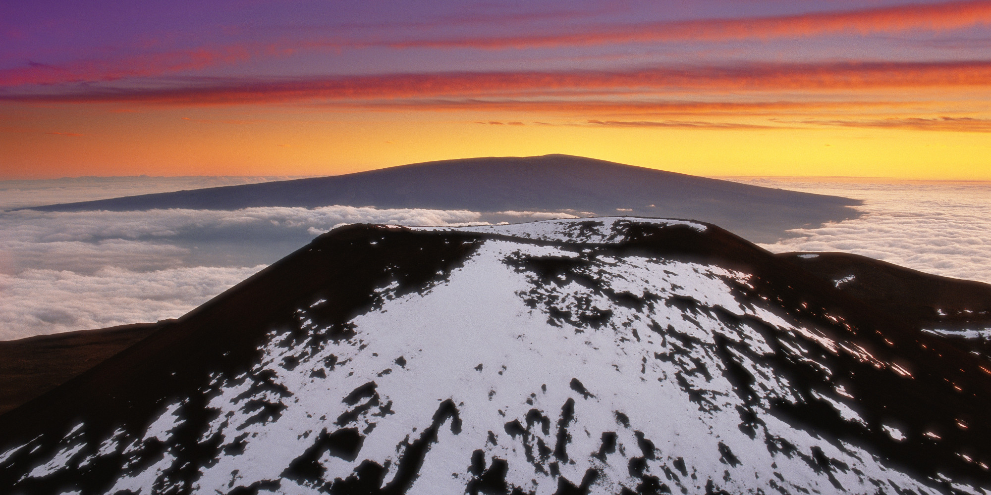 Snow On Hawaii S Big Island Photos Huffpost