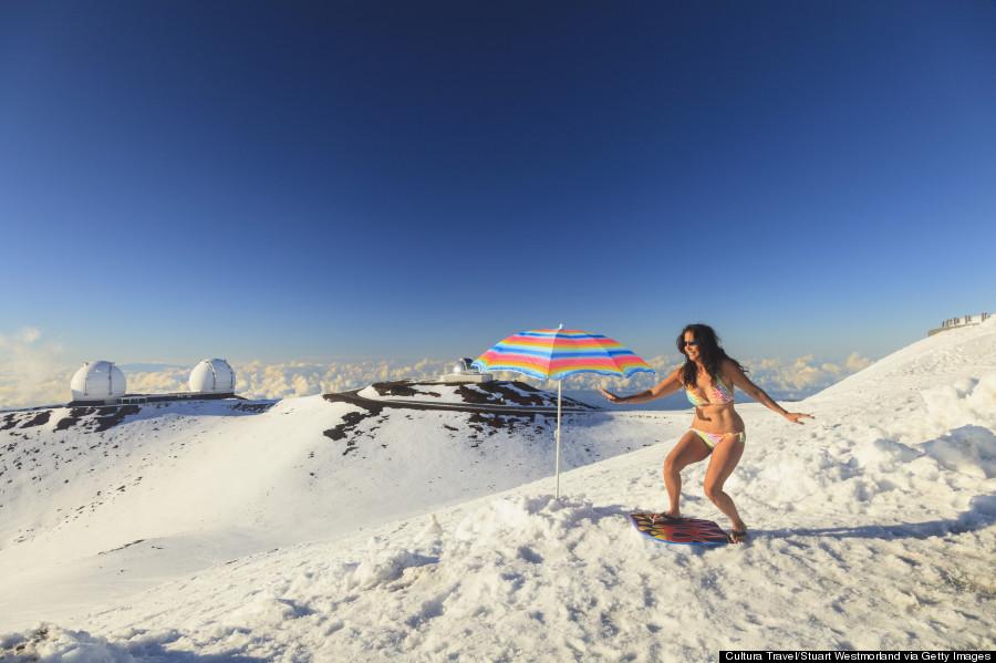 snow mauna kea  Snow