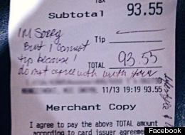 Family Leaves Offensive Note Instead Of Tip For Waitress And Marine
