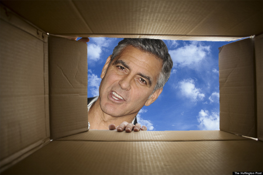 george clooney box paparazzi