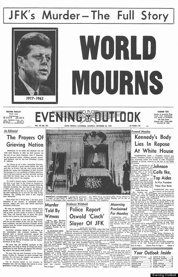 jfk shooting daybook article