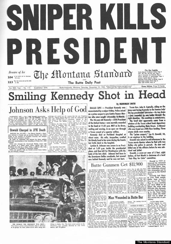 How The World'S Newspapers Reported Jfk'S Assassination | Huffpost