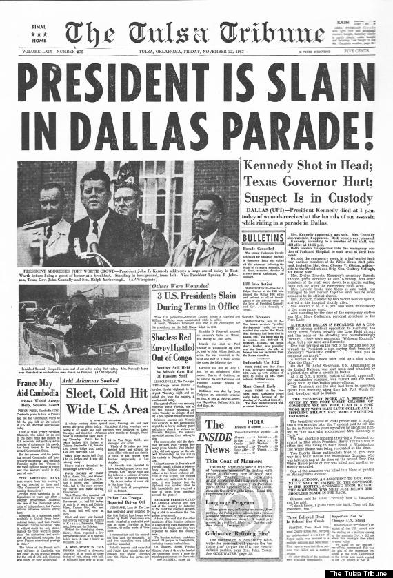 jfk murder paper article