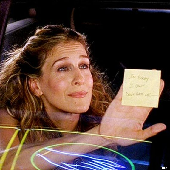 carrie bradshaw post it