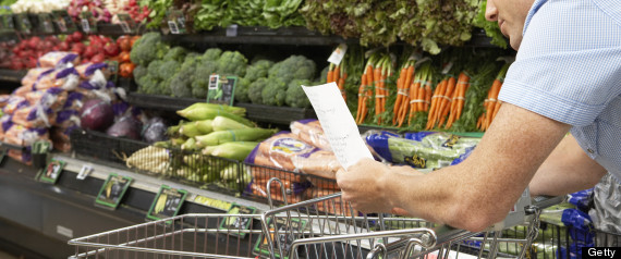 grocery cart healthy food