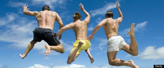 group jump men